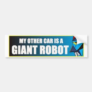 私の他の車は巨大なロボットです バンパーステッカー