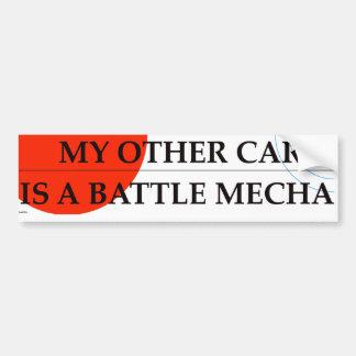 私の他の車は戦いMechaです バンパーステッカー