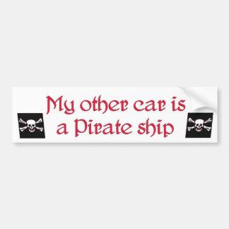 私の他の車は海賊船のバンパーステッカー…です バンパーステッカー