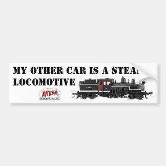 私の他の車は蒸気の気違いのバンパーステッカーです バンパーステッカー