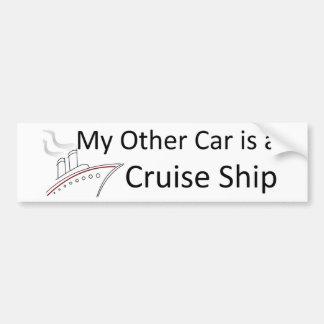私の他の車は遊航船です バンパーステッカー