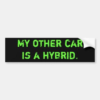 私の他の車は雑種です バンパーステッカー