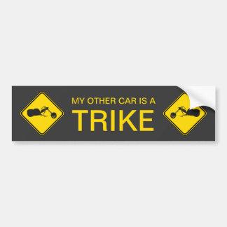 私の他の車はTrikeです! バンパーステッカー
