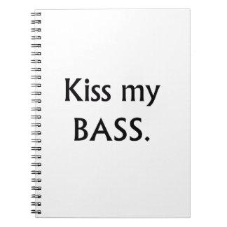 私の低音の黒い文字に接吻して下さい ノートブック