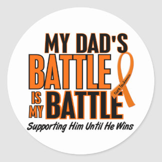 私の余りに戦いのパパの白血病 ラウンドシール