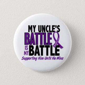 私の余りに戦いの叔父さん膵臓癌 5.7CM 丸型バッジ