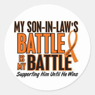 私の余りに戦いの義理の息子の白血病 ラウンドシール