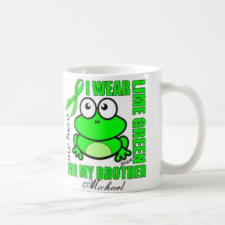 「私の兄弟のために」のリンパ腫サポート カエルのデザイン コーヒーマグカップ