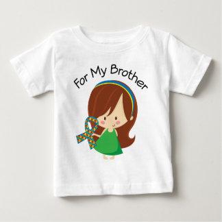 私の兄弟のための自閉症の認識度 ベビーTシャツ