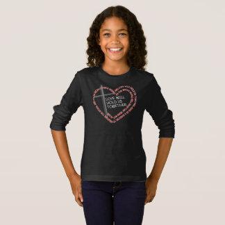 私の兄弟の看守の女の子の暗い長袖のティー Tシャツ
