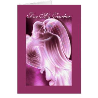 私の先生の天使の挨拶状のため カード