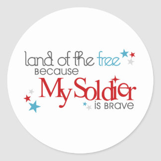 私の兵士が勇敢であるので自由のの土地 ラウンドシール
