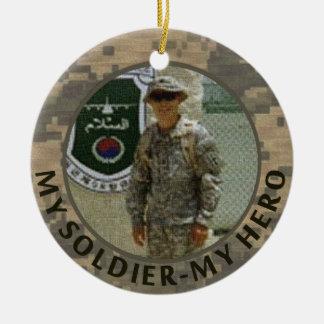 私の兵士私の英雄の軍の写真のカスタムの日付 セラミックオーナメント