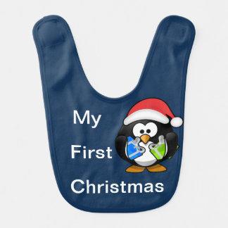 私の初めてのクリスマス-ペンギン ベビービブ
