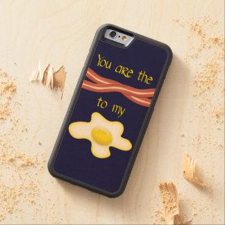 私の卵へベーコンです CarvedメープルiPhone 6バンパーケース