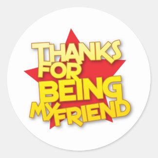 私の友人があることをありがとう ラウンドシール
