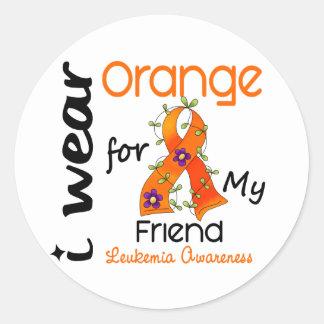 私の友人43のための白血病Iの衣服のオレンジ ラウンドシール