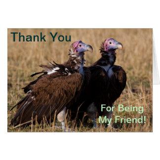 私の友人、ハゲタカカードがあることをありがとう カード