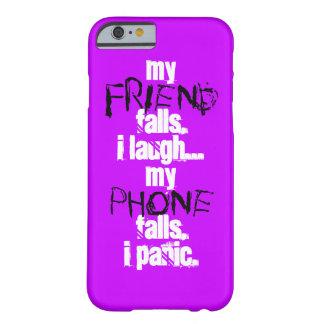 私の友人、電話黒の紫色のIPhone私の6の箱 Barely There iPhone 6 ケース