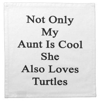 私の叔母さんだけIs Cool She Alsoカメを愛します ナプキンクロス