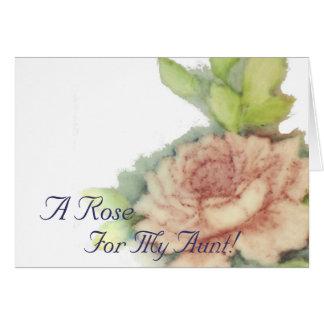 私の叔母さんのためのバラ! -カスタマイズ カード