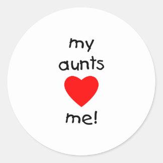 私の叔母さんは私を愛します ラウンドシール