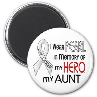 私の叔母さん肺癌を記念して真珠 マグネット
