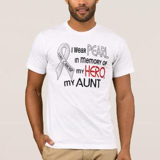 私の叔母さん肺癌を記念して真珠 Tシャツ