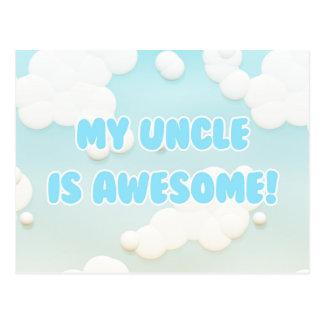 私の叔父さんは青および白い雲で素晴らしいです ポストカード