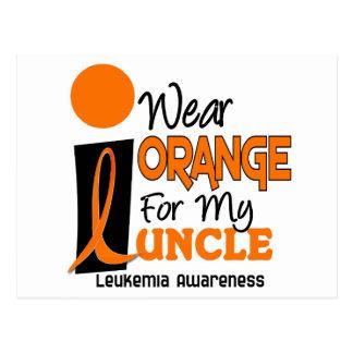 私の叔父さん9のための白血病Iの衣服のオレンジ ポストカード