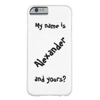 私の名前はあります BARELY THERE iPhone 6 ケース