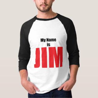 私の名前はジムです Tシャツ