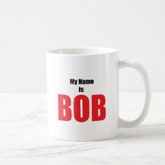 私の名前はボブです コーヒーマグカップ