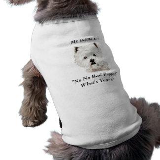 """私の名前は次のとおりです: 、""""悪い子犬無し ペット服"""