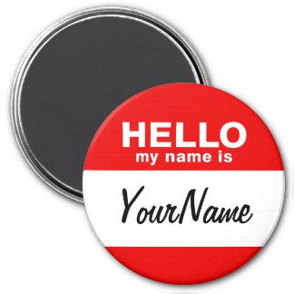 私の名前は空白のでカスタムな名札の赤です マグネット