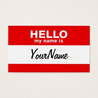 私の名前は空白のでカスタムな名札の赤です 名刺
