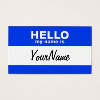 私の名前は青くカスタムな名札です 名刺