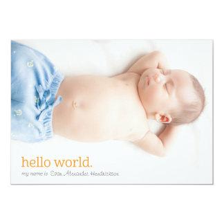 私の名前は…  の誕生の発表です カード