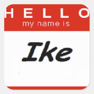 私の名前はIkeです スクエアシール