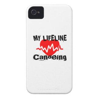 私の命綱カヌーをこぐスポーツのデザイン Case-Mate iPhone 4 ケース