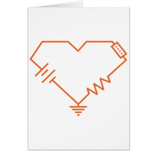 私の回路真面目なエンジニアのバレンタインカードを揚げます カード