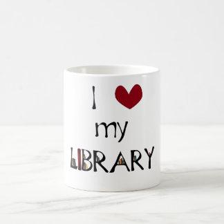 私の図書館を愛して下さい コーヒーマグカップ