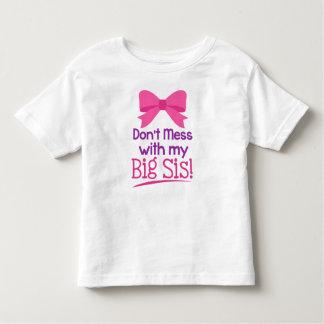 私の大きいSisと台なしにしないで下さい! 幼児のTシャツ トドラーTシャツ