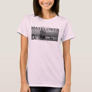 私の大叔母はMayflowerの子孫でした Tシャツ