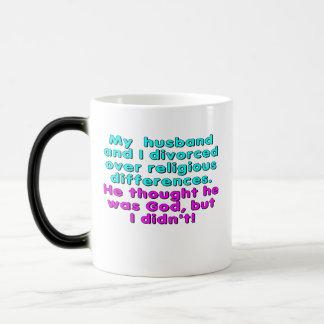 私の夫および私は宗教に…離婚しました モーフィングマグカップ