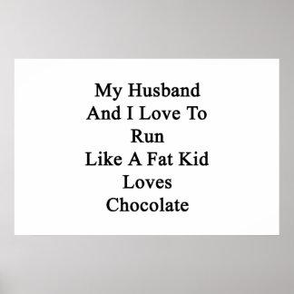 私の夫および私は脂肪子供愛のように走ることを愛します ポスター