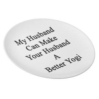 私の夫はあなたの夫によりよいヨーガ行者をすることができます プレート