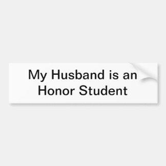 私の夫は名誉学生です バンパーステッカー