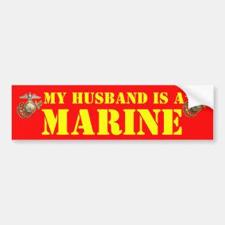 私の夫は海兵隊員です バンパーステッカー