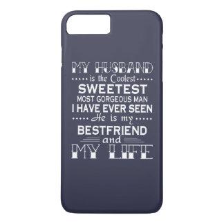 私の夫は私の生命です iPhone 8 PLUS/7 PLUSケース